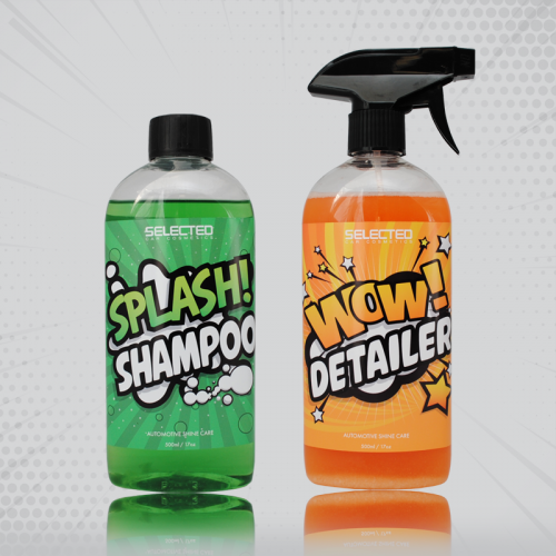 SELECTED WOW! Detailer i SELECTED SPLASH! Shampoo